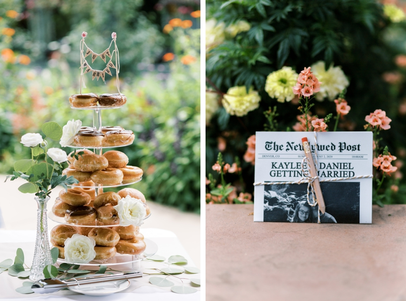 denver botanic gardens wedding cake