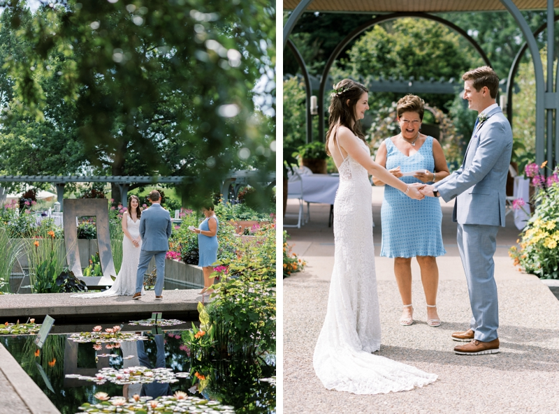 denver botanic gardens annuals pavilion wedding ceremony