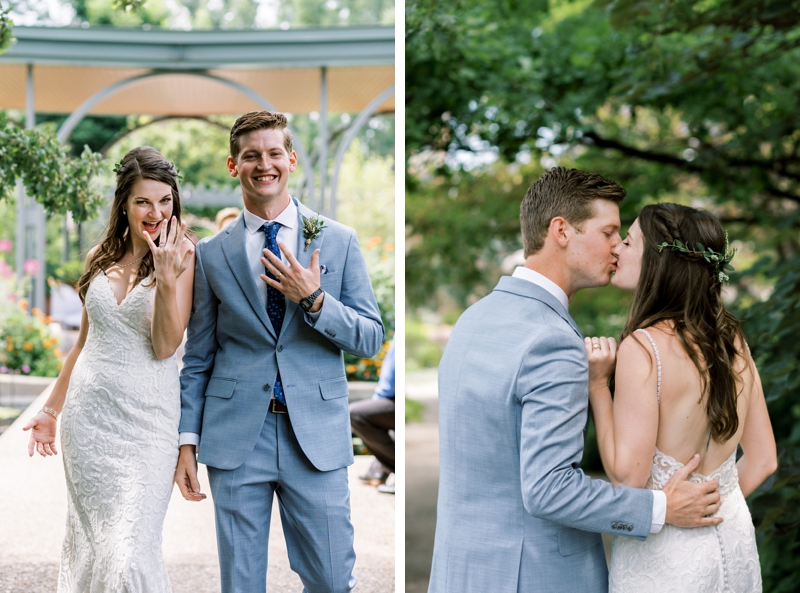 denver botanic gardens wedding photos