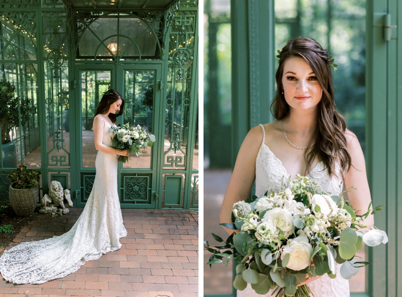 denver botanic gardens solarium wedding bride